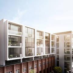 Metropol Park Berlin: Außergewöhnliches Penthouse mit Aufdachterrasse und sensationellem Blick:  Häuser von JLL Residential Development