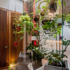 Jardines zen de estilo  por Martínez Arquitectura,