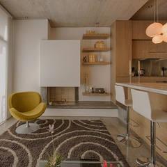 LIVING: Comedores de estilo  por Martínez Arquitectura