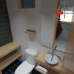Proyecto Casa Ospina: Baños de estilo moderno por Arquitecto Andrés Fonseca