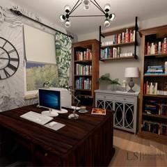 Biuro w domowym zaciszu : styl , w kategorii Domowe biuro i gabinet zaprojektowany przez Ls Lempart Studio