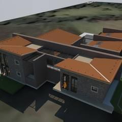 Vista General: Casas campestres de estilo  por Bustos + Quintero arquitectos