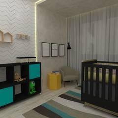 Dormitório de Bebê: Quartos de bebê  por Manu Dias Interiores