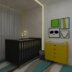 Dormitório Bebê: Quartos de bebê  por Manu Dias Interiores