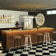 Bar design:  Built-in kitchens by AT The Studio