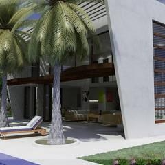 Casas Campestres: Jardines de estilo  por Arquitectos y Entorno S.A.S, Moderno