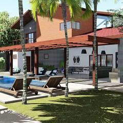 Lugar inspirador: Piscinas de jardim  por Trivisio Consultoria e Projetos em 3D