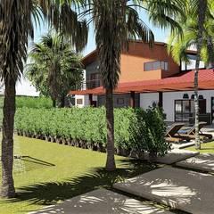 Separando ambientes: Jardins  por Trivisio Consultoria e Projetos em 3D
