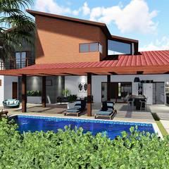 Projekty,  Dom rustykalny zaprojektowane przez Trivisio Consultoria e Projetos em 3D