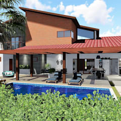 منزل ريفي تنفيذ Trivisio Consultoria e Projetos em 3D