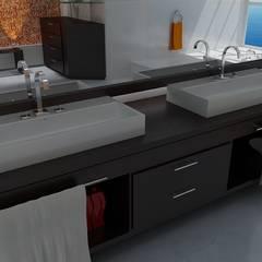 Casas Campestres: Baños de estilo moderno por Arquitectos y Entorno S.A.S