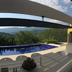: Piscinas de estilo minimalista por Arquitectos y Entorno S.A.S