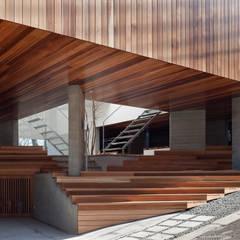 ギャラリーとスモールオフィスが同居した住居: acaaが手掛けたアプローチです。
