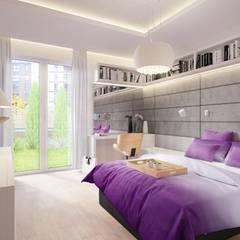 nowoczesna sypialnia: styl , w kategorii Sypialnia zaprojektowany przez DAPPI