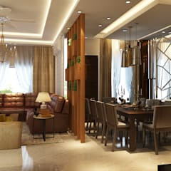 APARTMENT PROJECT @LOTUS PANACHE BY MAD DESIGN:  Dining room by MAD DESIGN