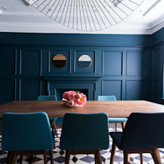 Sophisticated Mid-Century Home : Barnes:  Dining room by Cassidy Hughes Interior Design