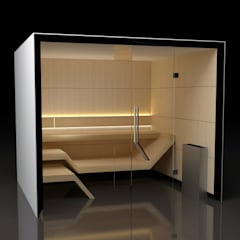 Sauna Modern Line : styl nowoczesne, w kategorii Spa zaprojektowany przez Sauna Line Sp. z o.o.