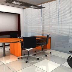 Oficina Grifos Dennis: Oficinas y Tiendas de estilo  por Soluciones Técnicas y de Arquitectura