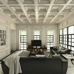 Ping House: Ruang Keluarga oleh w.interiorstudio, Klasik