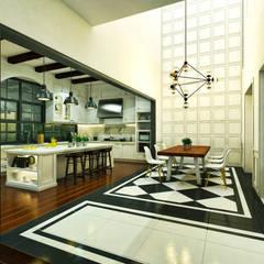 Ping House:  Ruang Makan by w.interiorstudio
