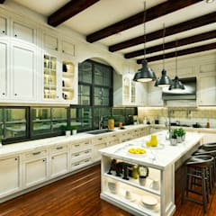 Ping House - Kitchen Area:  Dapur by w.interiorstudio