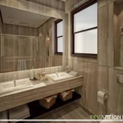 SODIC-WTR DUPLEX MOCKUP-MODERN CLASSIC:  Bathroom by INNOVATION DESIGN STUDIO, Modern Marble
