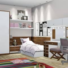 Teen bedroom by Trivisio Consultoria e Projetos em 3D