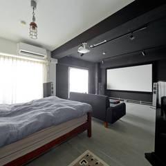 NYブルックリンスタイルリノベーション: 東京・横浜 ハコプラスリノベーションが手掛けた寝室です。,インダストリアル 木 木目調