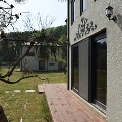 주택 전면: 한다움건설의  목조 주택