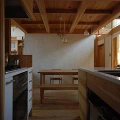 中央の家: 神谷建築スタジオが手掛けたダイニングです。