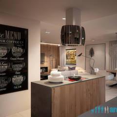 Projekt wnętrz kuchni w domu jednorodzinnym w Śośnicowicach: styl , w kategorii Kuchnia zaprojektowany przez Archi group Adam Kuropatwa