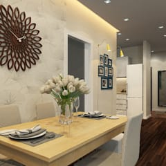 mediterranean Dining room by Гузалия Шамсутдинова | KUB STUDIO