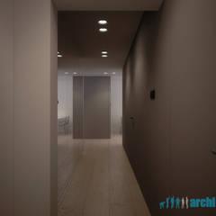 Projekt wnętrza holu w mieszkaniu na osiedlu Tysiąclecia w Katowicach: styl , w kategorii Korytarz, przedpokój zaprojektowany przez Archi group Adam Kuropatwa