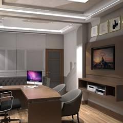 : Estudios y despachos de estilo ecléctico por Savignano Design