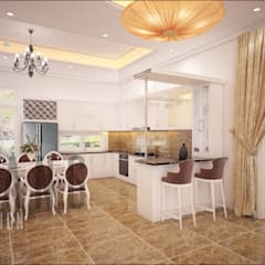 Dining room by DCOR, Asian