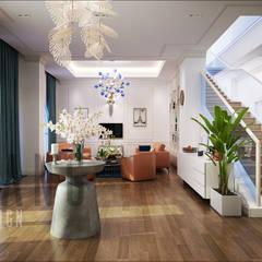 không gian sảnh, tiếp khách:  Hành lang by DCOR