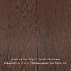 parquet contrecolle wengé lame large (180) finition huilée: Murs de style  par ADD