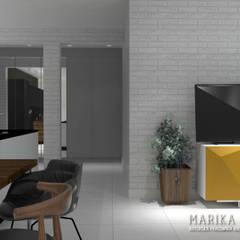 Apartament Wilanów: styl , w kategorii Salon zaprojektowany przez Marika Kafar Autorska Pracownia Projektowa