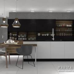 Apartament Wilanów: styl , w kategorii Kuchnia zaprojektowany przez Marika Kafar Autorska Pracownia Projektowa