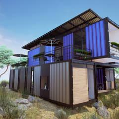 Exterior: Casas prefabricadas de estilo  por EnTRE+