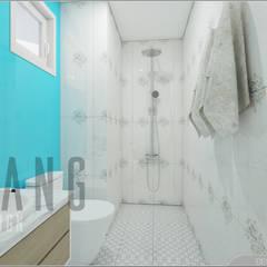 Chung cư Phòng tắm phong cách châu Á bởi DCOR Châu Á