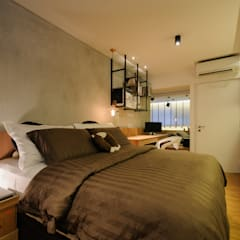 Design & Build Project: Resale HDB Apt @ Serangoon Ave 3:  Bedroom by erstudio Pte Ltd,Scandinavian