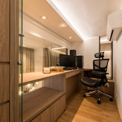 Design & Build: Condominium @ Eunos (Modern Scandinavian):  Study/office by erstudio Pte Ltd