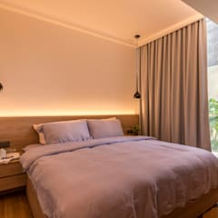 Design & Build: Condominium @ Eunos (Modern Scandinavian):  Bedroom by erstudio Pte Ltd