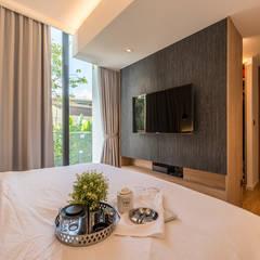 Design & Build: Condominium @ Eunos (Modern Scandinavian):  Bedroom by erstudio Pte Ltd,