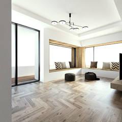 노후된 주택 리모델링 디자인-2층 거실인테리어 디자인: 디자인 이업의  거실
