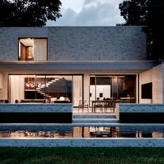 Casas de campo de estilo  por Архитектурная студия Чадо