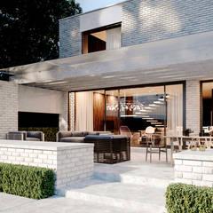 Maisons de campagne de style  par Архитектурная студия Чадо