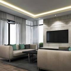 :  غرفة المعيشة تنفيذ SA Architects and Partners