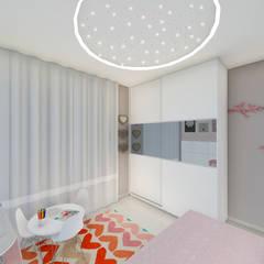 Quarto infantil - feminino: Quarto infantil  por Grafite - Arquitetura e Interiores